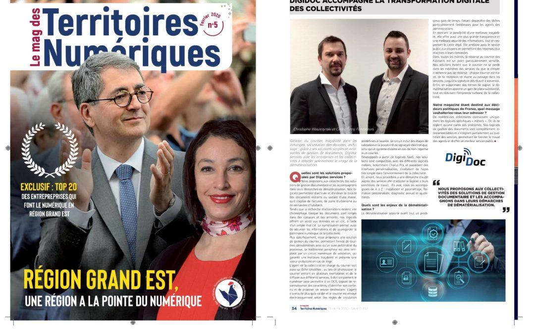 """DIGIDOC dans le """"Top 20 des entreprises du Numérique"""""""